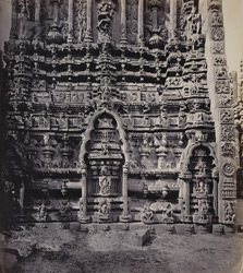 Tarputry [Tadpatri]. Temple in ruins near the river. South side of base of northern tower in detail